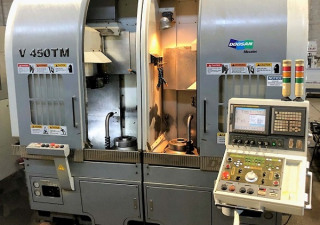 "Used 15"" Doosan V450-Tm Twin Spindle Cnc Turning Center For Sale, 10"" Cnc Lathe For Sale"
