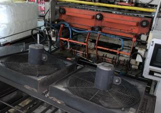 Machine de moulage par soufflage Uniloy 350R2 6 têtes avec moules