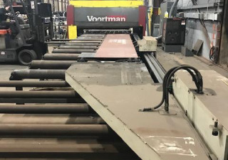 Used Voortman Model V320C Plate Processor, Drilling, Cutting, Plasma, And Oxy-Fuel, Year: 2012