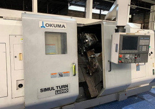 Okuma LU300 Turning Center with Twin Turrets