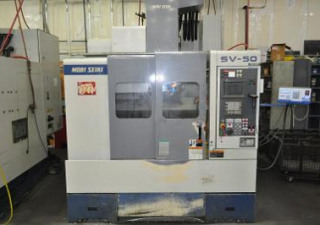 1996 Mori Seiki SV-50 40 Taper VMC with 2017 Tsudakoma RNE-160R Indexer with Tailstock