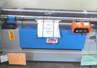 "5 'X 16 Ga. Wdm Initial Pinch Bending Roll N ° B-3.5-60, Hyd., 3.5 ""Rolls, 2 Hp, Dro, New, En stock"