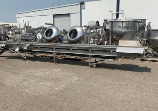 "24"" Long x 24' Wide Stainless Steel Sorting Conveyor"