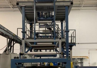 Used General Extrusion Technologies Get 2-Layer Lab Blown Film Line