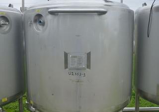 Réservoir de stockage vertical en acier inoxydable de 1600 L