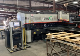 22 TON AMADA LC-C1 NT SERIES PUNCH/LASER COMBINATION MACHINE W/MP2512C1,2009