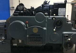 Heidelberg  Cylinder with Hot Gilding Press