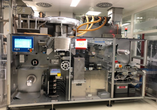 Siebler (Romaco Group) complete strip packing and cartoning line for tablets