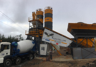 TURBOMIX-100 Mobile Concrete Batching Plant