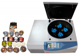 Thermo Electron Jouan CR4i Refrigerated Centrifuge with Rotor and variety of buckets