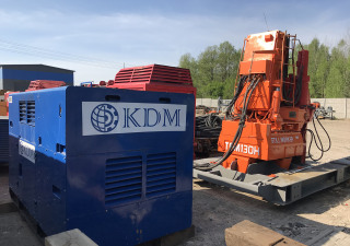 Used pile press TGM130H – steel sheet piles