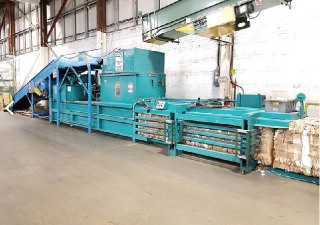 Maren Horizontal Wide Mouth Shear Baler Model Swss-A-8-30P 30 Hp No Conveyor