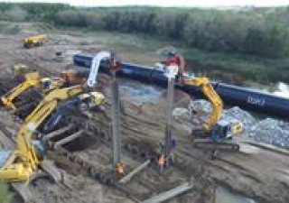 Vibro hammer OVR 70 VM to work on a crane or piling rig