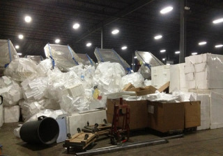 GREENMAX recycling machine -- Styrofoam compactor A-C300