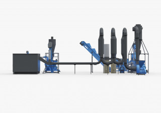 Full pelleting cycle (mini pellet production plant)