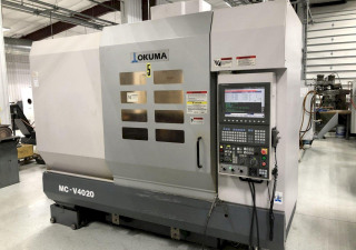 "Okuma Mcv4020 Cnc Vertical Machining Center, Osp P200M, 40""/20""/18"" Travel, 32 Atc, Probing, Coolant Thru Spindle"