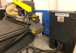 """Multicam Model 3-304-R (80"""" X 120"""") 3 Axis Cnc Router With Servo Drives,"""