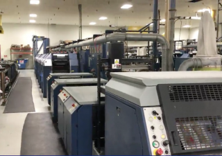 "1999 Drent Vision 520 Web offset press 20.5"" wide"