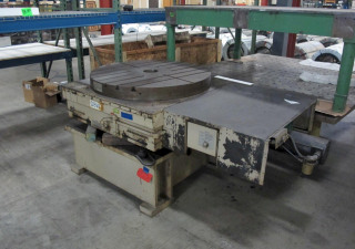 "Table rotative de contournage hydrostatique Giddings & Lewis Cnc de 48 ""avec échelle et colonne montante Inductosyn,"