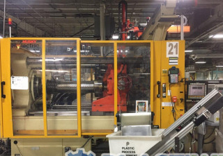 Used 400 Ton Husky Hylectric H400 Rs65 65 Hybrid Injection Molding Machine