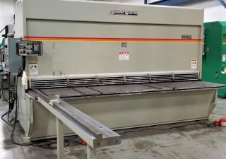 "1/2"" X 12' Accurshear, Model 850012, New 2001, Exit Conveyor, 10' Arm"