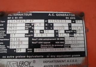 1989 Leroy-Somer KVA: 2950