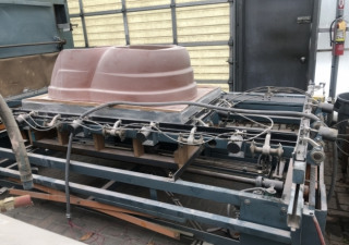 2006 PVI MODEL 4100XTX VACUUM FORMER, 48″ X 120″, DUAL HEATERS PROCESSOR CONTROLLED