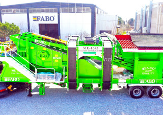 Fabo ME 1645 SERIES MOBILE SAND SCREENING PLANT