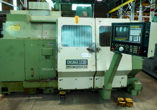 """Okuma Cnc Turning Center Lc-20, Twin Turret, 39"""" Center Distance, Osp5000Lg Control, Recenty Removed From Service"""