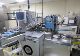 Uhlmann C-100 horizontal cartoning machine for blisters