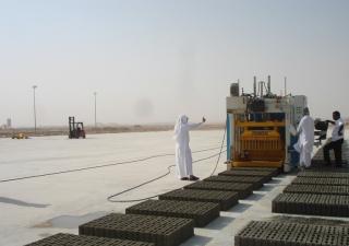 Concrete block making machine SUMAB E-6