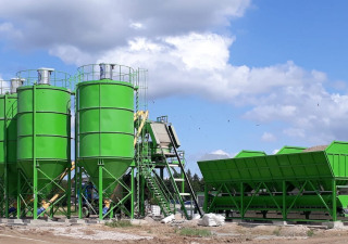 Stationary concrete batching plant SUMAB T-80