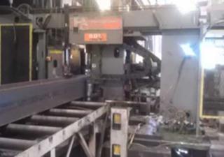 "PEDDINGHAUS 9-Spindle CNC Beam Drill Line, 50"" W Beam, 24"" H Flange, Siemens CNC"