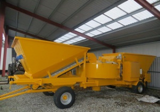 Mobile concrete plant M 2200, from 2002.