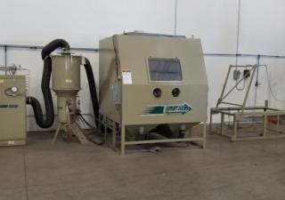 "BNP-7212P-9 RPC, ZERO, 900 CFM, reclaim/blast system, 60"" rotab, dust coll, 2017"