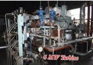 1 No. - 6 MW Belliss (2000) make, extraction condensing type steam turbine generator set