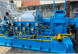 1 No. – 6000 kW TRIVENI (2002) make Condensing type Steam Turbine with Gear box