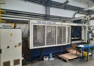 Injection Molding Machine Krauss Maffei 800-4350 Bm