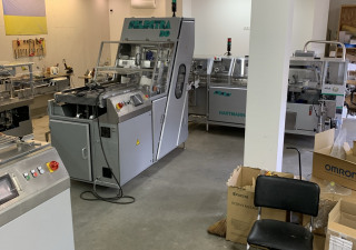 Bread packing and slicing line GHD Hartmann GBK-420 packing machine and SL-30 slicing machine