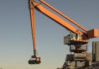 1998 SOBEMAI 9T 31,6M balance material handler - mobile port crane on tracks for bulk and scrap material