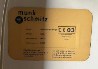 Munk & Schmitz - NEEDLE ROLLS Станок роликовой дробеструйной обработки Ø 406 x 1600 mm 6821 = Mach4metal