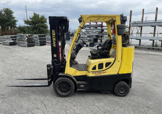 """8,000 Pound Hyster Model S80Ftbcs Mfg. 2013 173"""" Raised Mast With Forks"""