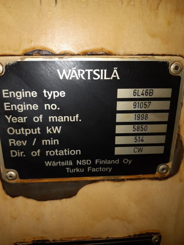 Used Wartsila 6L46B for sale in Turkey - Kitmondo