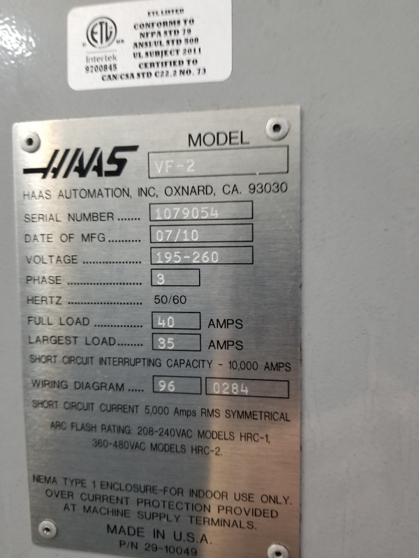 Used Haas vf-2 for sale in USA - Kitmondo Haas Vf Wiring Diagram on