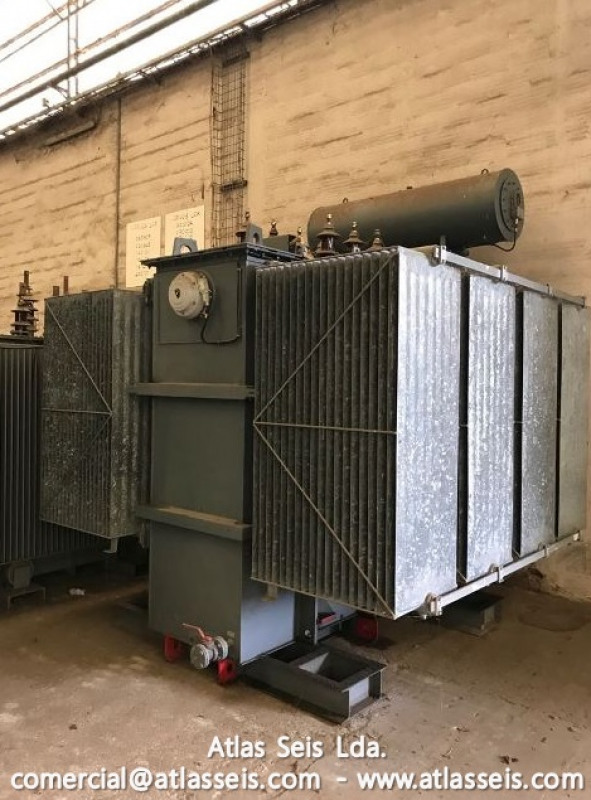 Used Efacec Oil immersed 3 phase Power Transformer 7000 kVA