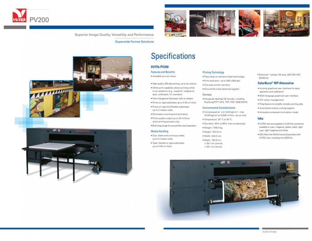 Used Vutek PV200 for sale in USA - Kitmondo